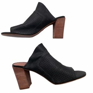Adam Tucker Leather perforated heeled sandal